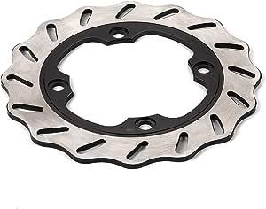 Hlyjoon Steel Bremsscheibe Hinten Bremsscheibenabdeckung Für Cb Cbr 400 600 900 1000 Vtr Vtz 250 1000 Fes 250 4 Trx 400 Ex Pantheon 125 150 Auto