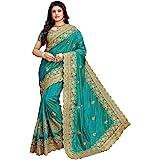 Niza Fashion Women's Woven Silk Saree With Unstiched Blouse Piece