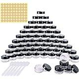 60 Pièces Pots Cosmétiques Vide en Plastique Clair De Voyage Conteneurs Cosmétiques Pot Échantillon pour Lotion, Crème, Stock