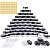 60 Pieces Empty Sample Pots, 5g / 5ml Clear Plastic Travel Cosmetic Container Jars for Creams, Sample, Make-Up Storage