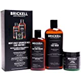 Brickell Men's Daily Advanced Face Care Routine I, Gel Facial Cleanser Wash, Face Scrub, Face Moisturizer Lotion, natuurlijk