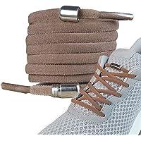 LaceHype - 2 Paar Premium Elastische Schnürsenkel mit Metallkapseln ohne binden - Set für 2 Paar Schuhe - mit Kapseln…