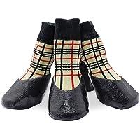 KEESIN Haustier-Hundewelpen wasserdichte Anti-Rutsch-Sportsocken Schuhe Stiefel, Gummisohle, Paw-Schutz für Small/Medium…