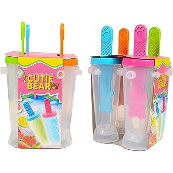 Skywalk Ice Pop Candy Lolly Popsicle Kulfi Maker Mould Set Of 4 Pcs