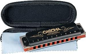 CASCHA Professional harmonica en Do majeur, harmonica blues diatonique, instrument de musique pour adultes et débutants avec étui