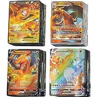 KSHYE 100pcs Cartes Pokemon français GX Ex V vmax Tapeur Trainer Jeux de Cartes Jeux Enfants Jouet (Color : (100GX…