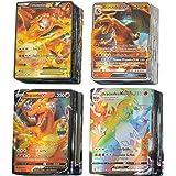 KSHYE 100pcs Cartes Pokemon français GX Ex V vmax Tapeur Trainer Jeux de Cartes Jeux Enfants Jouet (Color : (100GX) French)