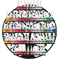 Étagère murale 5 niveaux en métal pour vernis à ongles, aromathérapie, huiles essentielles, étagère à rouge à lèvres…