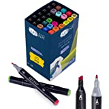 Artina rotuladores textiles permanentes Textile BS – Set de 30 colores textiles – 20 colores + 10 rotuladores negros - pintur