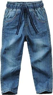 Echinodon Jungen Jeans Hose Kinder Jeanshose 100% Baumwolle Leicht/Weich/Atmungsaktiv Frühling Sommer Herbst