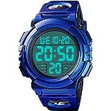 Orologio digitale da uomo, impermeabile, militare, digitale, sportivo, con formato 12/24H, sveglia, cronometro, grande volto,