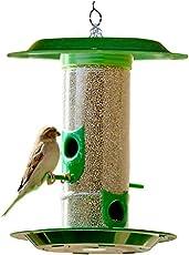 Just Click Fashion Mount Pole Bird Feeder (Medium, Green)