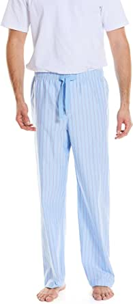 Savile Row Men's Pyjama Bottoms - Cotton/Mixed Classic Casual Soft Trousers Lounge Pants Loungewear Nightwear Sleepwear for Gentlemen
