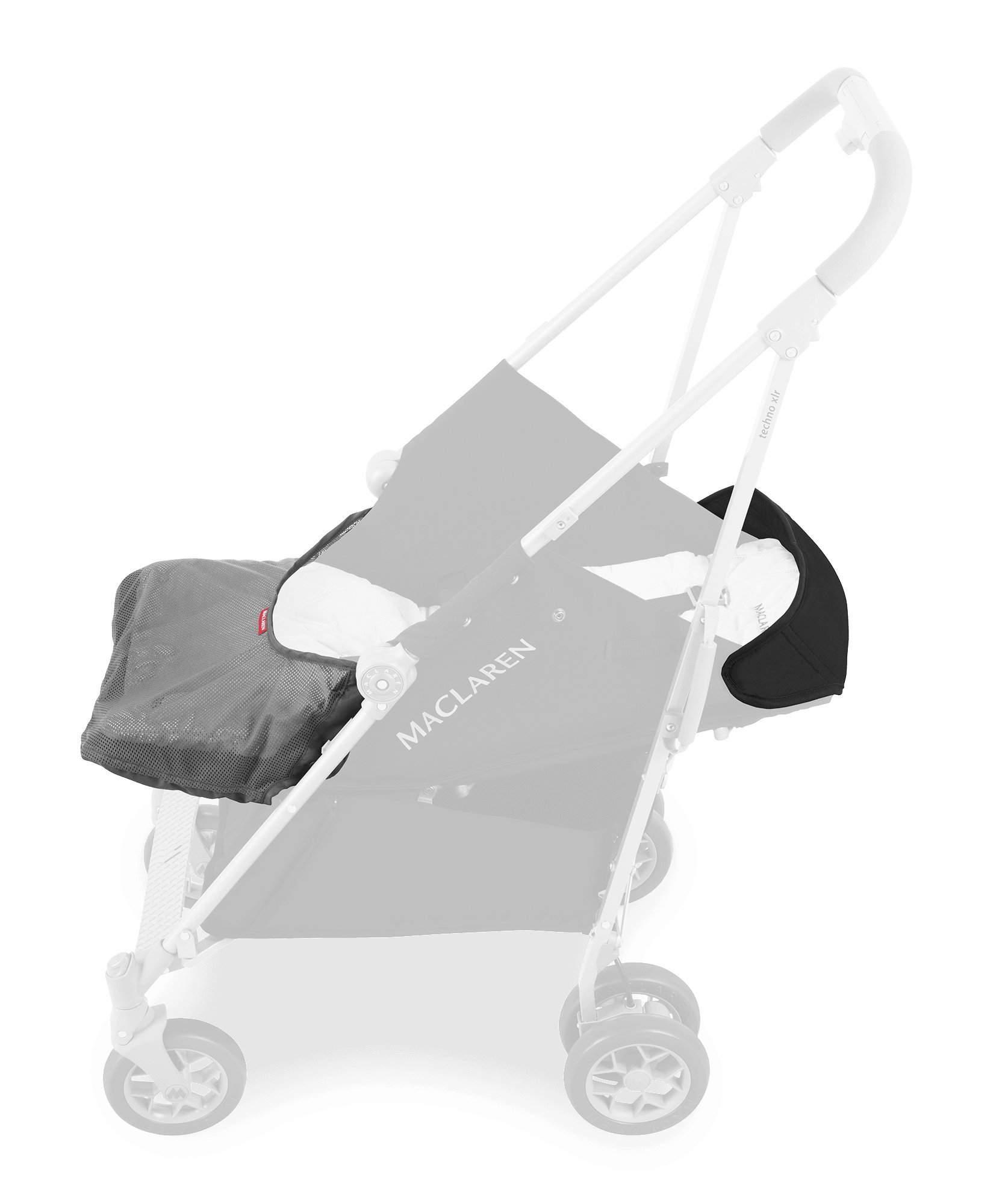 Maclaren Techno XLR arc Travel System Stroller Maclaren Basic weight of 6.7kg/14.8lb; ideal for new-borns and children up to 25kg/55lb (usa 65lb) Maclaren is the only brand to offer a sovereign lifetime warranty Extendable upf 50+ sun canopy and built-in sun visor 6