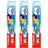 Colgate Kids Wonder Woman Extra- Soft Toothbrush (5+ Years) - 1 Pc (Pack of 3)