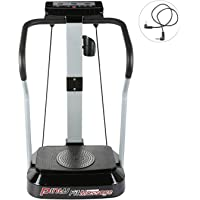 Pinty Vibrationsplatte Vibrationstrainer Ftitnessgerät Vibration Plate Trainingscomputer LED Display Fitnessbänder 99…