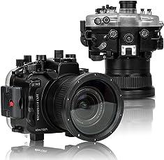 seafrog wpc-a7riii 40m/130ft Wasserdicht Unterwasser Kamera Gehäuse Fall Funktioniert für Sony a7riii Kamera mit (28–70mm Standard) (16–35mm und 90mm Separat)