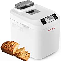 AUCMA Machine à Pain 12 Programmes (Programmes sans Gluten, Brioche, Pâtes, Confiture),Brunissage réglable,écran LCD…
