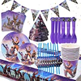 BESLIME 88pcs Forniture per Feste di Compleanno Video Game Birthday Party Supplies And Favors,Game Party Plates,Cups…
