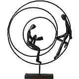 Circles Scultura 24x20x3cm ferro brunito Dekofigur Figurine scultura della statua del design