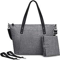 S-ZONE Baby Wickeltasche Große Wasserdichte Leichte Handtasche Stilvolle Henkeltasche Multifunktionale Babytasche mit…