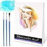 RATEL Papier Aquarelle, 30 Feuilles Aquarelle Pad 100% Pulpe de Bois, 300gsm Aquarelle Coton A4 Aquarelle Livre Acide Papier