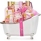 Spa Luxetique Set de Spa para el Hogar a Rosa, Set de Regalo de Baño, Regalos Pequeños para Mujer, Set de Baño y Ducha con 8
