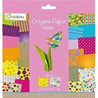 Avenue Mandarine 52506O - Un paquet de 60 feuilles Origami 20x20 cm 70G (30 motifs x 2 feuilles) et une planche de…