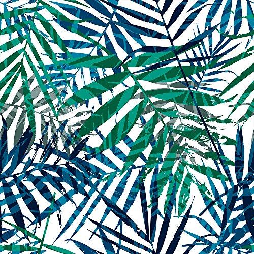 murando Carta da parati Tropicale Foglie Motivo vegetale Fotomurali in TNT Murale alla moda Decorazione da Muro XXL Poster Gigante Design Carta per pareti Natura verde blu bianco b-B-0311-j-a