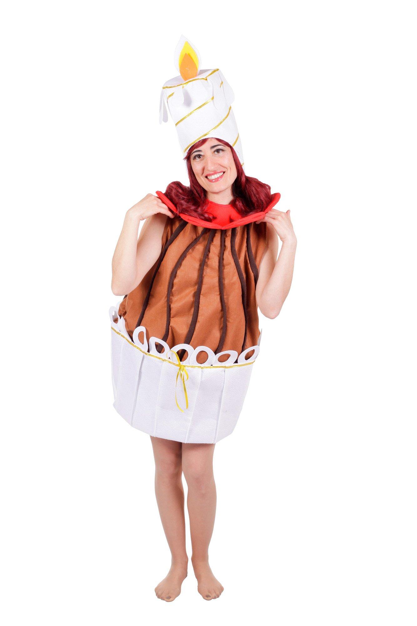 Nines Artesanals d'Onil Nines d'Onil Export – Disfraz de tarta para mujer, color marrón y blanco (D8708)