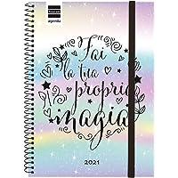 Finocam 748000121 Agenda 2021 Settimanale con rilegatura a Spriale Design Collection Magia Italiano
