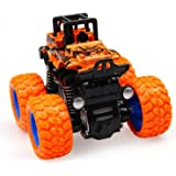 Famous Quality® 4WD Mini Monster Trucks Friction Powered Unbreakable Cars for Kids Big Rubber Tires Baby Boys Super Cars…