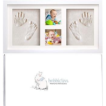 New Baby Birth Foot Print Fully Personalised Christening Gift Print Keepsake