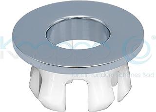 KNOPPO® Waschbecken Messing Überlauf Abdeckung, Metall Design  Überlaufblende   Eye Chrom (in 6