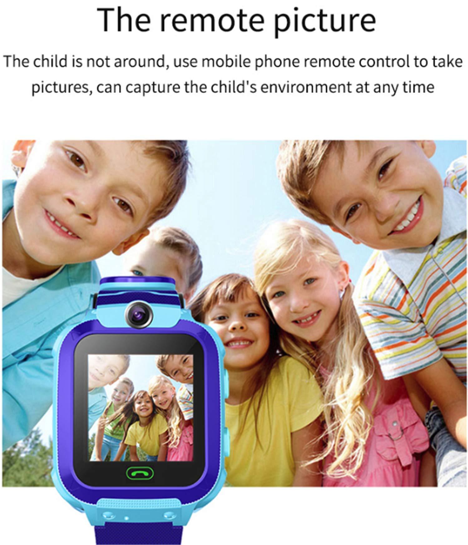 linyingdian Smartwatch Niños, Reloj Inteligente Niños con 1.44 Pantalla táctil Completa, LBS localizador Linterna, Llamada, SOS, Cámara, Juegos y Despertador, Regalo para Niño Niña de 3-12 años 9