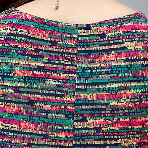 Damen Sommerkleider Bedruckt Ausgestellt Swing Kleid Damen Kurze Ärmel Franki Skaterkleid Plus Größe Farbe 1