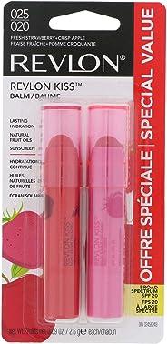 Revlon Kiss Balm Fresh Strawberry & Crisp Apple 025/020, 2x2.6g