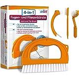 Set de 4 cepillos para limpieza de juntas y azulejos - Para el baño y todo el hogar - Ideales para quitar el moho sin usar su