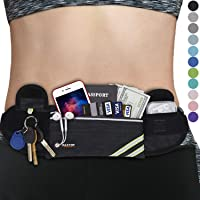 MAXTOP Running Belt with keychain & Waterproof Adjustable Elastic Strap, Bounce Free Sweatproof Waistpacks with Headphone Holes and Large Capcity for phones up to 6.7 inch For Running and Outdoor