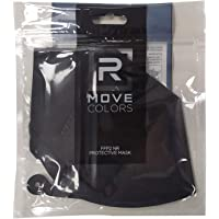 rmove 5 mascherine FFP2 colorate Nere Certificate CE mascherina nere ffp2 (Black, 5 pezzi)