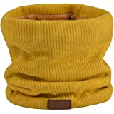 NovForth Winter Neck Warmer Fleece Lined Infinity Scarf Thicken Windproof and Dust Skiing Circle for mens women Double-Layer