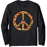 Peace Love Tenue Hippie Flower Power Années 60 70 Manche Longue