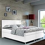 Wohnen-Luxus Boxspringbett 140x200 Hotelbett Doppelbett Polsterbett Ehebett amerikanisches Bett Modell Madrid Typ 1 (140x200)