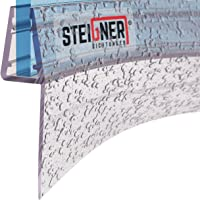 STEIGNER Joint de douche pour paroi en verre, 100cm, vitre 6/7/8mm, joint d'étanchéité PVC courbé pour les cabines de…