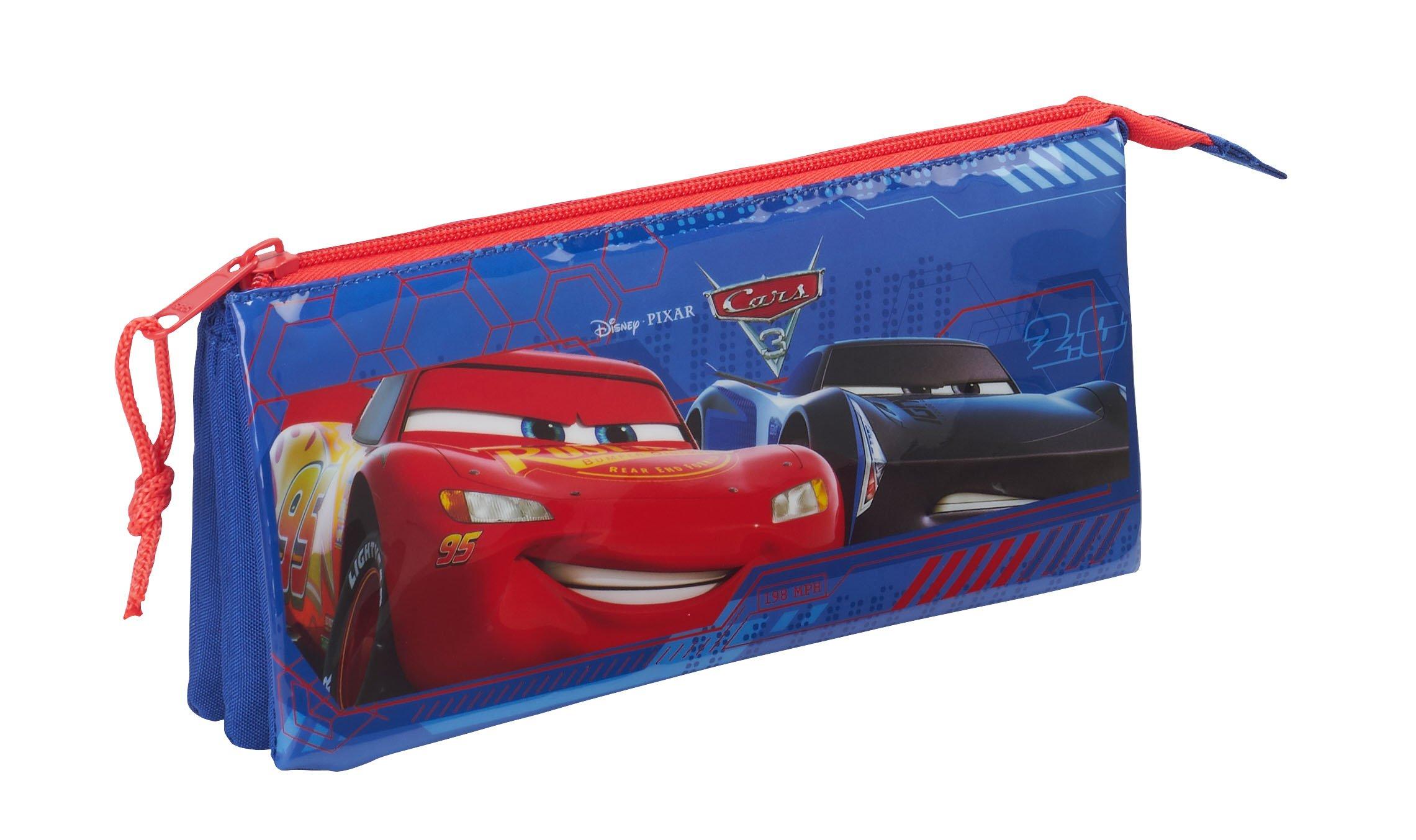 Safta Estuche Escolar Cars 3 Oficial 220x30x100mm