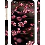 Casotec Pink Flowers Design 3D Printed Hard Back Case Cover for Vivo Y66