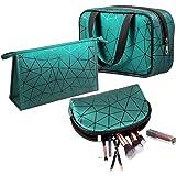 حقيبة مكياج ، Eocean 3 قطع محمولة للسفر ، حقيبة مكياج مضادة للماء ، حقيبة أدوات الزينة المحمولة ، مجموعة حقائب مكياج للسفر وا