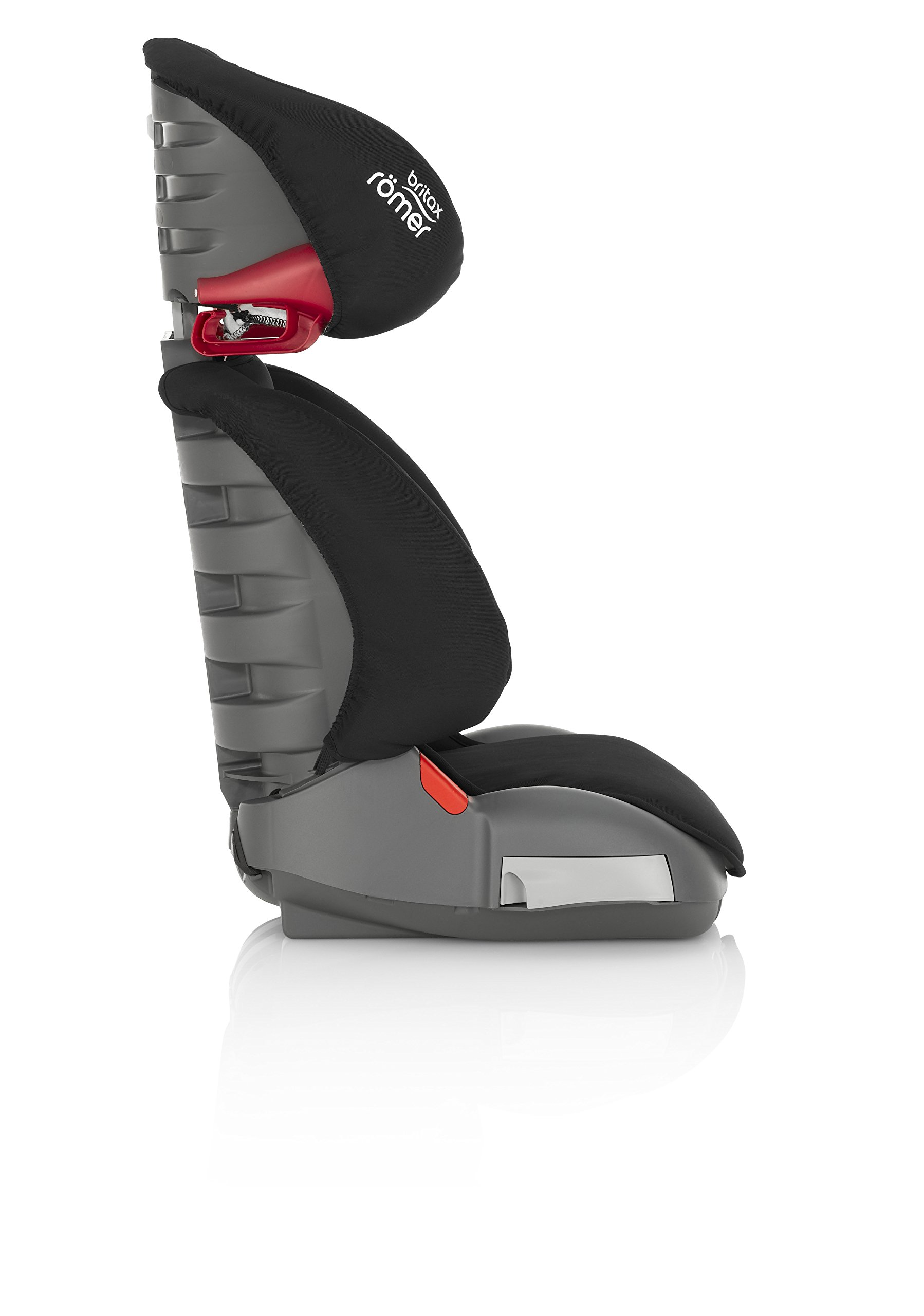 Britax Römer ADVENTURE Group 2-3 (15-36kg) Car Seat - Cosmos Black Britax Römer Intuitively positioned seat belt guides for straightforward installation every time. Machine washable seat cover that can easily be removed, so you can clean up quick and get on your way Reassurance of highback booster safety with side impact protection Lightweight, easily transferable shell 8