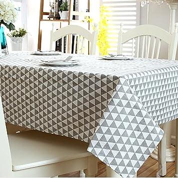 SSLW Einfache Tischdecke Tischdecke Schwarz-Weiß Grau Gitter ...