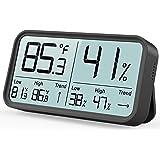 BFOUR Termómetro higrómetro digital para interior, termómetro e higrómetro para control de la temperatura de la habitación, m